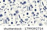 hawaii print seamless pattern... | Shutterstock .eps vector #1799392714