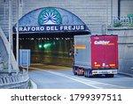The Frejus Motorway Tunnel...