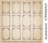 vector set of calligraphic... | Shutterstock .eps vector #1799402914