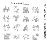 back to work icons set... | Shutterstock .eps vector #1799424247