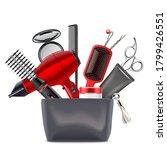vector hair styling concept... | Shutterstock .eps vector #1799426551