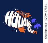 happy halloween vector... | Shutterstock .eps vector #1799447881