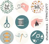 Set Of 9 Icons For Needlework...