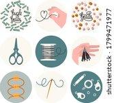 Set Of 9 Icons For Needlework...