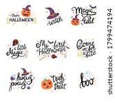 happy halloween hand drawn... | Shutterstock .eps vector #1799474194