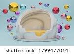 podium empty with geometric... | Shutterstock . vector #1799477014