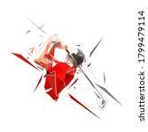 golf player  low polygonal... | Shutterstock .eps vector #1799479114