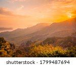 The Landscape Of Mountains Wit...