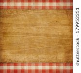 Cutting Board Over Red Grunge...
