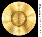 gold record music disc award... | Shutterstock . vector #179952254