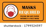 mask required. wear face mask... | Shutterstock .eps vector #1799524597