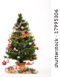 decorated christmas tree with a ... | Shutterstock . vector #17995306