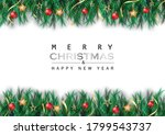 christmas and new year with... | Shutterstock .eps vector #1799543737