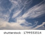 Blue Sky Background With Big...