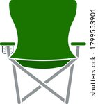 icon of fishing folding chair....