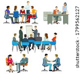 course and meeting in the office | Shutterstock .eps vector #1799562127