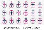 religion crosses logos big... | Shutterstock .eps vector #1799582224
