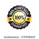 golden premium quality badge | Shutterstock .eps vector #179958329