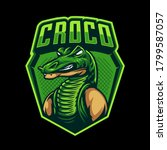 Crocodile Logo Badge. Vector...