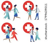 medical care concept with... | Shutterstock .eps vector #1799639011