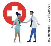 medical care concept with... | Shutterstock .eps vector #1799639014