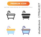 bathtub icon isolated on white... | Shutterstock .eps vector #1799641327