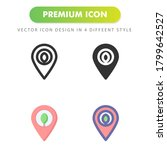 pin map icon isolated on white...