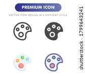 paint icon isolated on white...