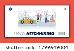 hitchhikers on road landing... | Shutterstock .eps vector #1799649004