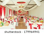 banquet hall or other function... | Shutterstock . vector #179964941