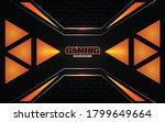 abstract futuristic black and...   Shutterstock .eps vector #1799649664