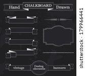 set of chalkboard style banners ... | Shutterstock . vector #179966441