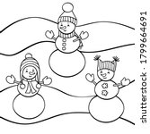 vector coloring page with three ... | Shutterstock .eps vector #1799664691