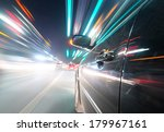 car on the road with motion... | Shutterstock . vector #179967161