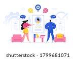 vector illustration of female... | Shutterstock .eps vector #1799681071