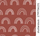 fall themed doodle vector... | Shutterstock .eps vector #1799706151