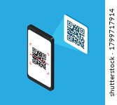 Isometric Smartphone With Qr...