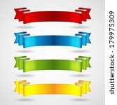 colorful ribbons set | Shutterstock .eps vector #179975309