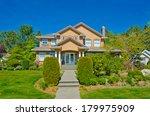 big custom made luxury house... | Shutterstock . vector #179975909