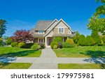 big custom made luxury house... | Shutterstock . vector #179975981