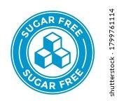 sugar free vector logo or badge ... | Shutterstock .eps vector #1799761114