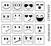 vector smile icon set  | Shutterstock .eps vector #179976419
