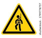 warning wear safety harness...   Shutterstock .eps vector #1799778757