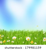 abstract floral background with ... | Shutterstock . vector #179981159