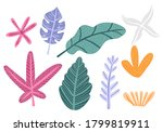 colorful floral childish... | Shutterstock .eps vector #1799819911