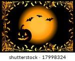 halloween night background ... | Shutterstock .eps vector #17998324