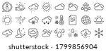 cloudy sky  winter snowflake ... | Shutterstock .eps vector #1799856904
