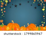holiday banner with pumpkins ...   Shutterstock .eps vector #1799865967