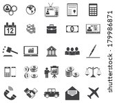 business icons   Shutterstock .eps vector #179986871