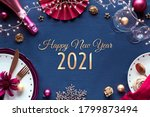 Happy New Year 2021 Gilded Text ...